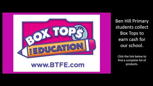 Send your Box Tops to school!